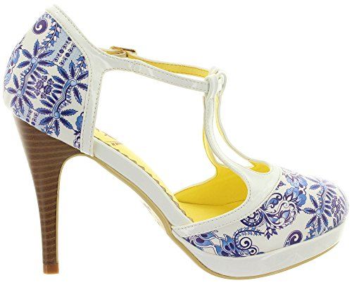 Dancing Days Women's Court Shoes White hZdaOSt