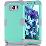 Note 5 Case, Asstar Shockproof Anti Scratch Hybrid High Impact Hard PC Soft Silicon Rubber Armor Full Body Heavy Duty Protective Case for Samsung Galaxy Note 5 (Mint+Grey)
