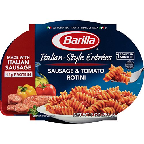 Barilla Italian-Style Entrees, Sausage & Tomato Rotini, 9 Ounce (Pack of 6)