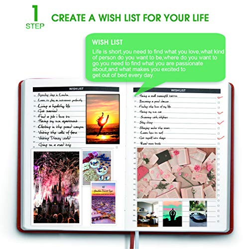 Weekly Planner&Monthly Agenda Book with Pen Holder-1 Year Non-Dated Planner-Thick Paper,Inner Pocket-Size:8.25