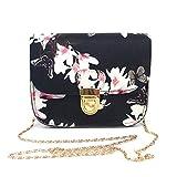 Women Handbags, Xinantime Ladies Leather Printing Small Deer Shoulder Bags Tote Bag Travel Bag Messenger Bag Crossbody Bag (Black)