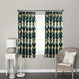 """IYUEGO Contemporary Abstract Ink Painting Style Chevron Double Pleated Top Lined Blackout Curtains Draperies With Multi Size Custom 100"""" W x 96"""" L (One Panel)"""