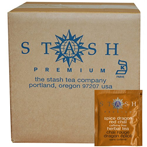 Red Tea Chai (Stash Tea Spice Dragon Red Chai Herbal Tea, 100 Count Box of Tea Bags in Foil (packaging may vary))