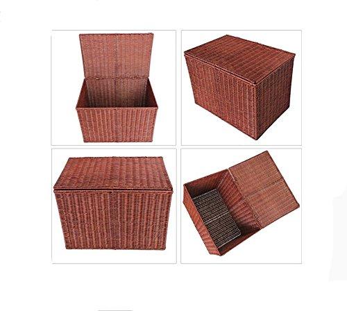 Aufbewahrungskorb Haushalt Rattan Weberei Baskets Aufbewahrungskorb Abdeckung Aufbewahrungsbox Dirty Kleidung Kleidung Kleidung Abschnitt ( Farbe   A ) B01MXUDYBU Sets e41a36