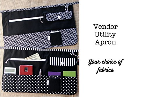 Vendor Apron / Utility Apron - Made to Order - Choose Your Fabrics from Crafty Staci