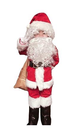 370bdbcf6b9d Amazon.com: OVOV 10 Pcs Complete Santa Claus Christmas Suit Kids Costume  Xmas Party Cosplay: Clothing