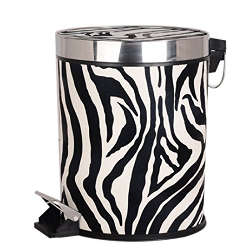 zebra garbage can - 4