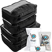 #LightningDeal 81% claimed: Bago Packing Cubes For Travel Bags - Luggage Organizer 10pcs Set in 12 Colors