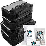 Bago Packing Cubes For Travel Bags - Luggage Organizer 10pcs Set ( Black )