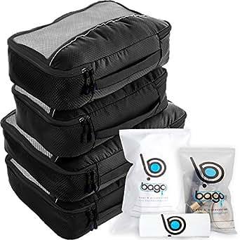 bago Packing Cubes For Travel Bags - Luggage Organizer 10pcs Set (Black)