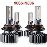 9006 9005 LED Headlight Bulbs Hi Lo Beam,Combo Package (2 sets) Seoul CSP Led Chips-12000LM 6000K Xenon White,1 Yr Warranty