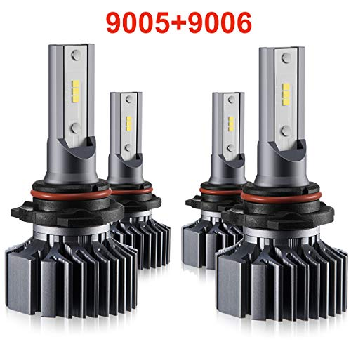 9006 9005 LED Headlight Bulbs Hi Lo Beam,Combo Package (2 sets) Seoul CSP Led Chips-12000LM 6000K Xenon White,1 Yr Warranty 2005 Toyota 4runner Headlight
