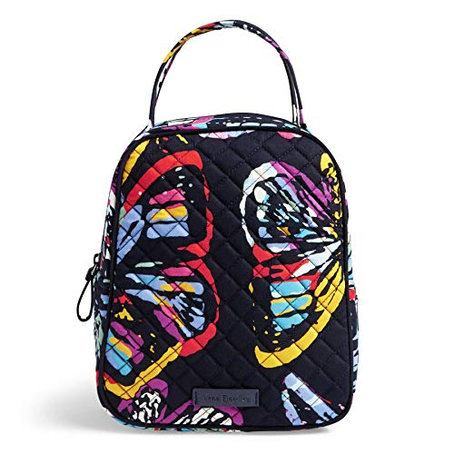 Vera Bradley Iconic Lunch Bunch, Signature Cotton, butterfly - Butterfly Zip Handbag Top
