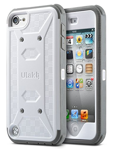 iPod Touch 6th generation case with screen protector,ULAK KNOX ARMOR Shockproof Dual Layer Belt Clip Holster Fullbody Protective Case Bumper Hard Cover for Apple iPod Touch 5/6th (Ipod Touch Skin Cases)