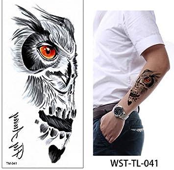 Tatuaje Chica Tatuaje Temporal Pájaros Flores Tatuaje Falso ...