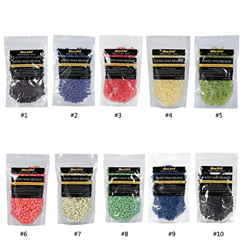 Value-Home-Tools - Blue Zoo 100g/Pack 10 Flavors Lavender Hard Wax Beans No Strip Depilatory Hot Wax Beans Full Body Bikini Hair Removal Beans from Value★Home★Tools