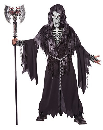 Grave Ghoul Child Halloween Costume (California Costumes Evil Unchained Costume, One Color,)