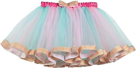 FENICAL Falda Tutu para niñas Rainbow Fairy Tutu Disfraz Princesa ...