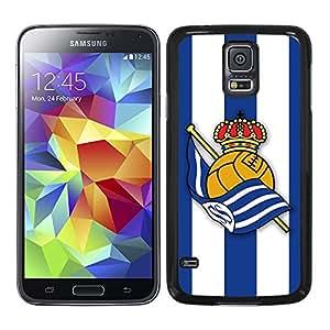 Funda carcasa TPU (Gel) para Samsung Galaxy S5 fútbol escudo Real Sociedad borde negro
