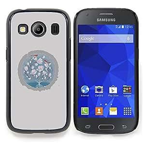 Stuss Case / Funda Carcasa protectora - Pájaros de bebé Rosa Gris Invierno - Samsung Galaxy Ace Style LTE/ G357