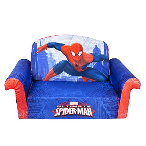 Marshmallow Furniture, Children's 2 in 1 Flip Open Foam Sofa, Marvel Spiderman, by Spin Master by Marshmallow Furniture
