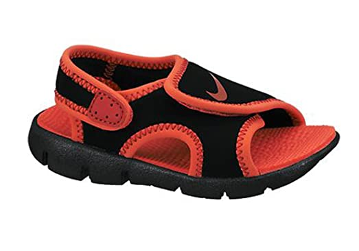 Nike Kids Sunray Adjust 4 Infant/Toddler Black/Red Sandals (8c)