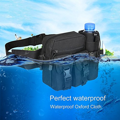 Outdoor Sports Waist Bag Waterproof Pouch Waist Pack Camping Hiking Cycling by CLKJYF