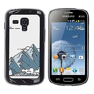 iKiki Tech / Estuche rígido - Retro Art Poster Drawing - Samsung Galaxy S Duos S7562