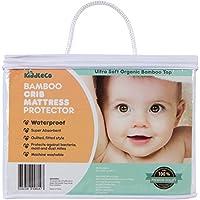 Kiddleco Waterproof Bamboo Crib Mattress Pad Protector