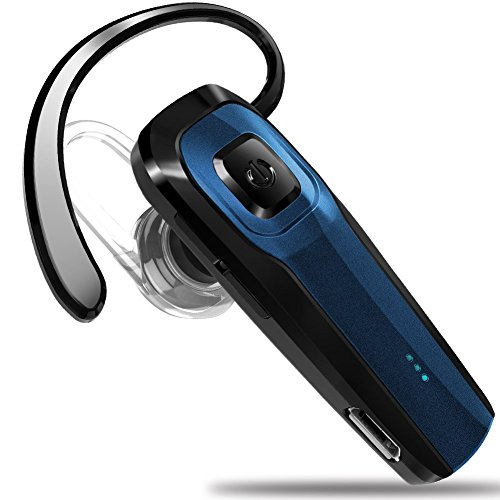 Bluetooth Universal Headset (Masentek M26 Bluetooth Headset V4.1 Cordless Handsfree Blue Earpiece w/ Noise Cancelling Mic for iPhone 7 Plus 6s 5s SE iPad Samsung Galaxy S7 Edge S6 S5 Note5 4 LG G5 V10 Motorola HTC Android Device)