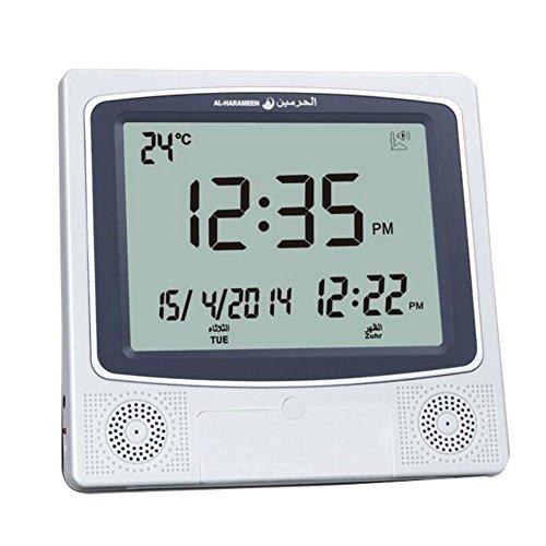 Al Harameen Azan Clock Islamic Prayer Clock Muslim Clocks #4009 by Al-Harameen