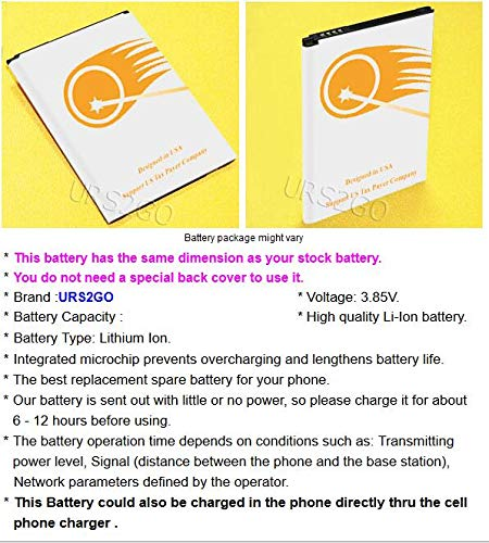 URS2GO 2X 4400mAh Li-ion Replacement Battery for LG V20 US996 U S  Cellular  BL-44E1F with Travel Ac Charger SIM Tool