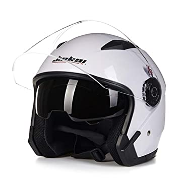 Casco Motocicleta Moto Lente Dual Verano/Invierno Casco De Cara Abierta JIEKAI Moto Capacete para