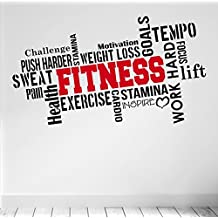 PRO FITNESS Motivational Wall Decal Gym Quote