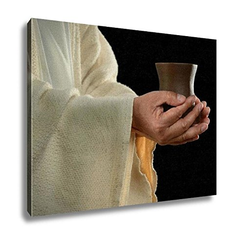 Ashley Canvas, Jesus Hands Holding Cup, Kitchen Bedroom Dining Living Room Art, 24x30, AG6514246 by Ashley Canvas