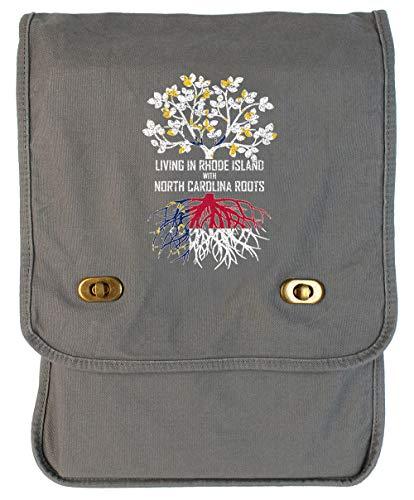 (Tenacitee Living In Rhode Island with North Carolina Roots Smoke Grey Canvas Field Bag )