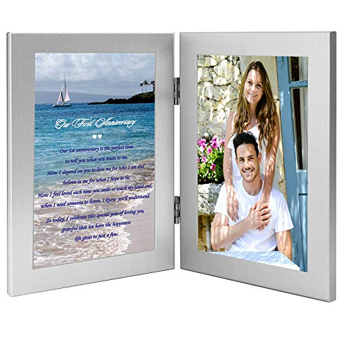Traditional Paper Gift for First Anniversary - Add Photo (1st Year Wedding Anniversary Poems For Husband)