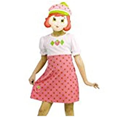Strawberry Shortcake Costume Small 4-6 Dress and Mask Set: Clothing