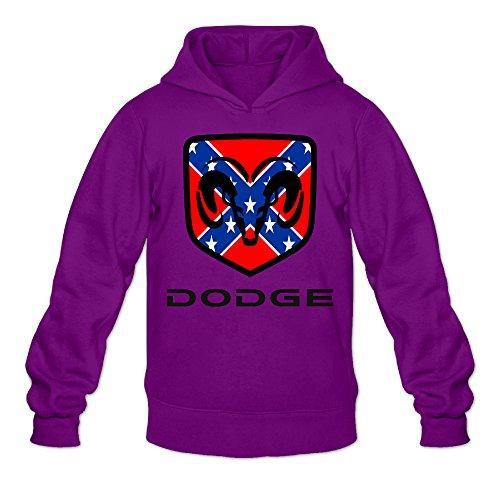 Fennessy Men's Hoodies Dodge Ram Logo Size S Purple