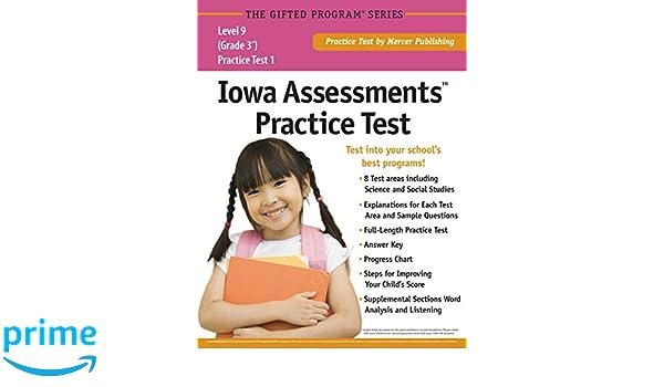 Iowa Assessmentstm Practice Test Grade 3 Level 9 Mercer