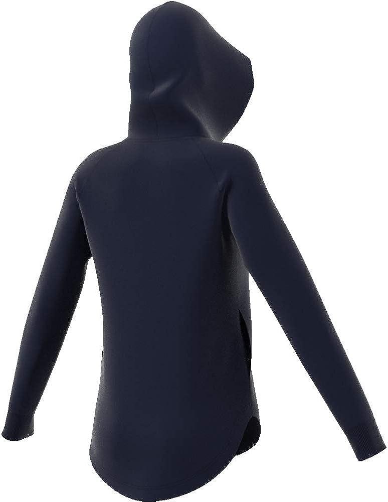 adidas Damen W Mh Bos Oh Hd Sweatshirt Blau (Tinley / Weiß)