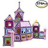 Building Blocks Set, 376 Pieces Magnetic Educational Toys...