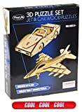 Best Top Jet Plane Car Wooden Model 3D Puzzle Set Last Minute Valentine Day Easter Basket Stuffer...