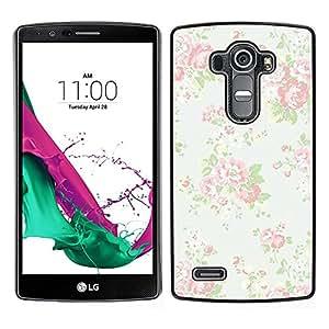 LECELL--Funda protectora / Cubierta / Piel For LG G4 -- viñeta vendimia retro papel tapiz floral --