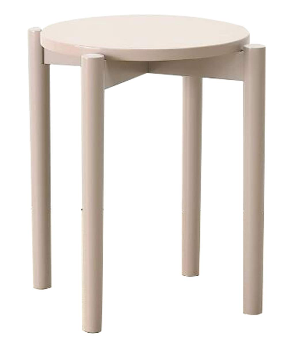 Quality Stool Solid Wood Beech Round Dining Stacked Dressing Stool Table Simple Nordic Green Environment Home Furniture Kitchen Breakfast Bar Light Finish Wooden Chair And Stools Living Room Upgrade-g by OUMC