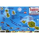 Tahiti & Society Islands Dive Map & Reef Creatures Guide Franko Maps Laminated Fish Card