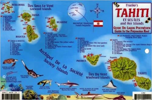 Tahiti On A Map Tahiti & Society Islands Dive Map & Reef Creatures Guide Franko  Tahiti On A Map