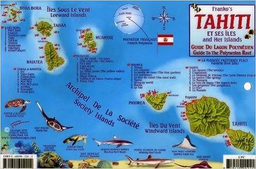 Tahiti & Society Islands Dive Map & Reef Creatures Guide Franko
