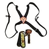 Crooked Horn Bowhunter's Kit: ''Slide N Flex Bino System'' Binocular Harness with Hands-Free Bow Sling