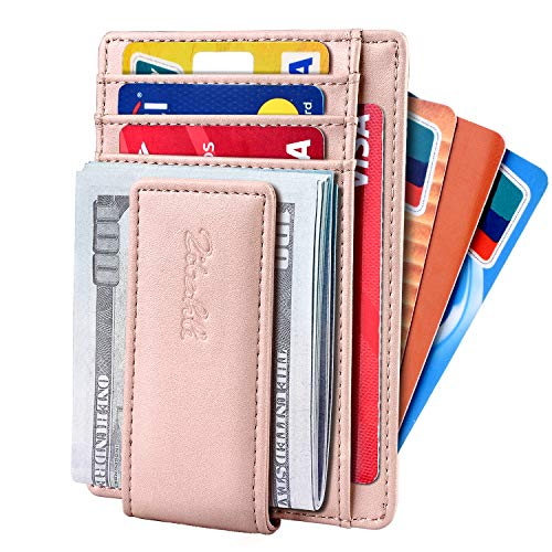 Slim & Minimalist Bifold Front Pocket Wallet with Strong Magnet  Money Clip for men,Effective RFID Blocking & Anti-magnetic